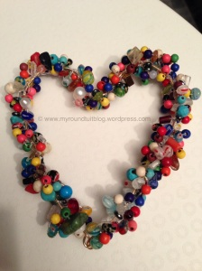 Bead crochet heart